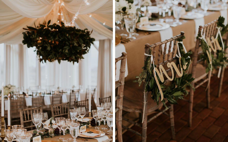 winter wedding - dinner party wedding - winter wedding flowers