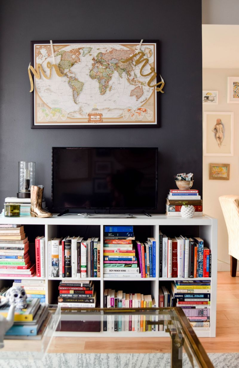 Why A Dark Statement Wall Can Make a Small Room Seem Larger