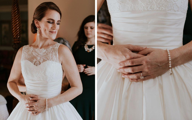 charlottesville bride - charlottesville wedding - augusta jones wedding dress - augusta jones paz - winter bride