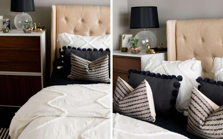 pb teen bedding - pb teen bedding for adults - grown up pottery barn teen bedding - pb teen tufted duvet - black and white pottery barn teen bedding
