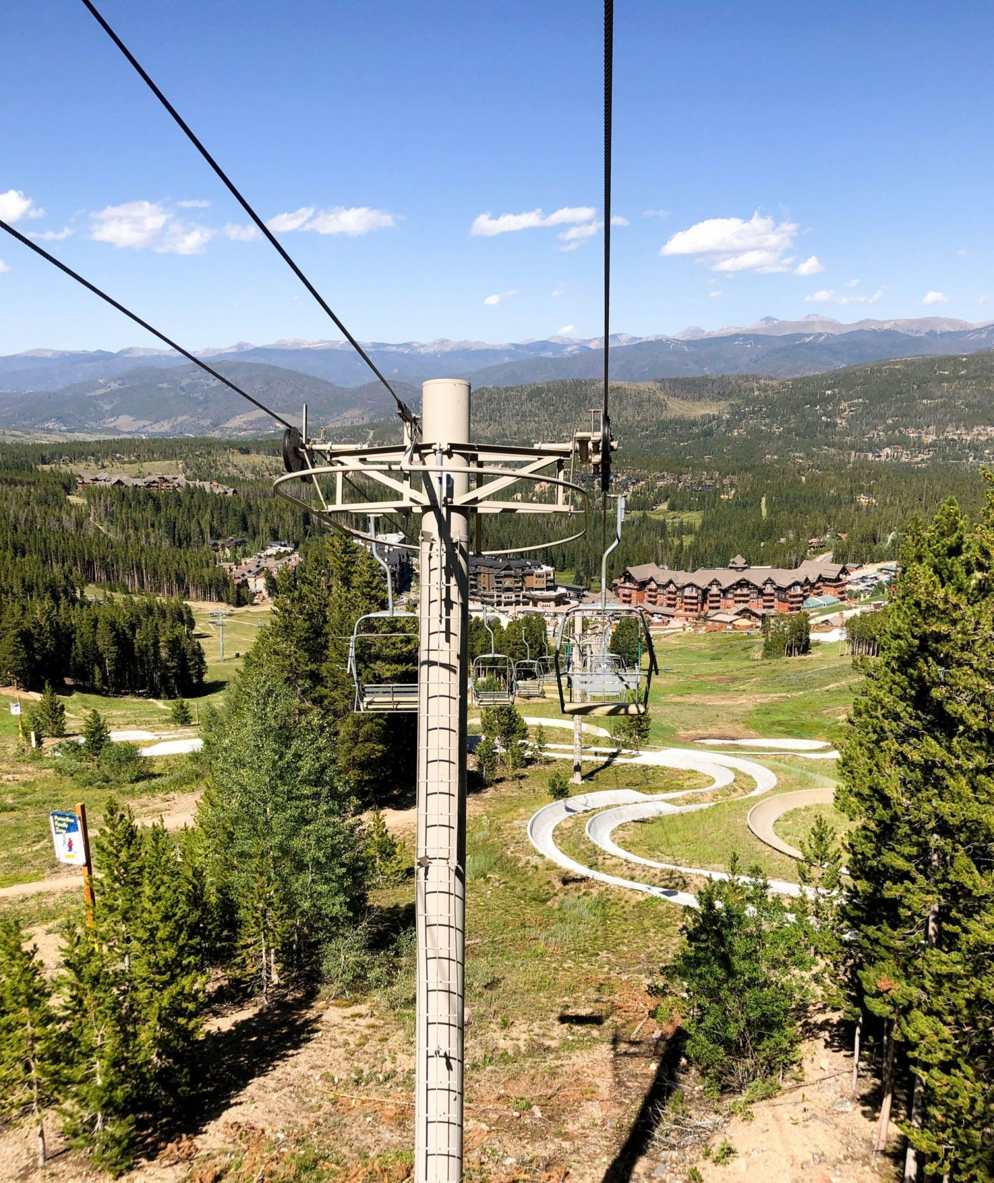 breckenridge top of mountain - breckenridge alpine slide