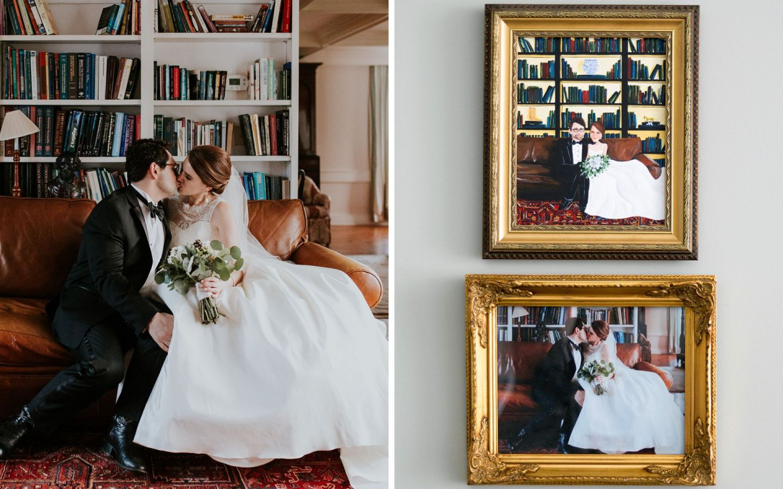 wedding portrait - first anniversary gift - paper anniversary gift idea - sarah russell painter