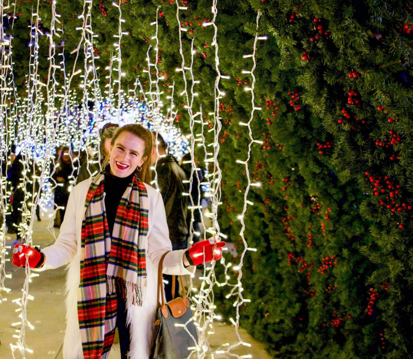 what to do during the holidays in dc - enchant christmas dc - chicwish white coat