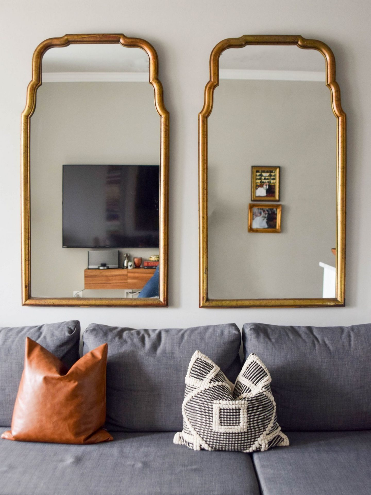 how to shop vintage - mid century modern mirrors