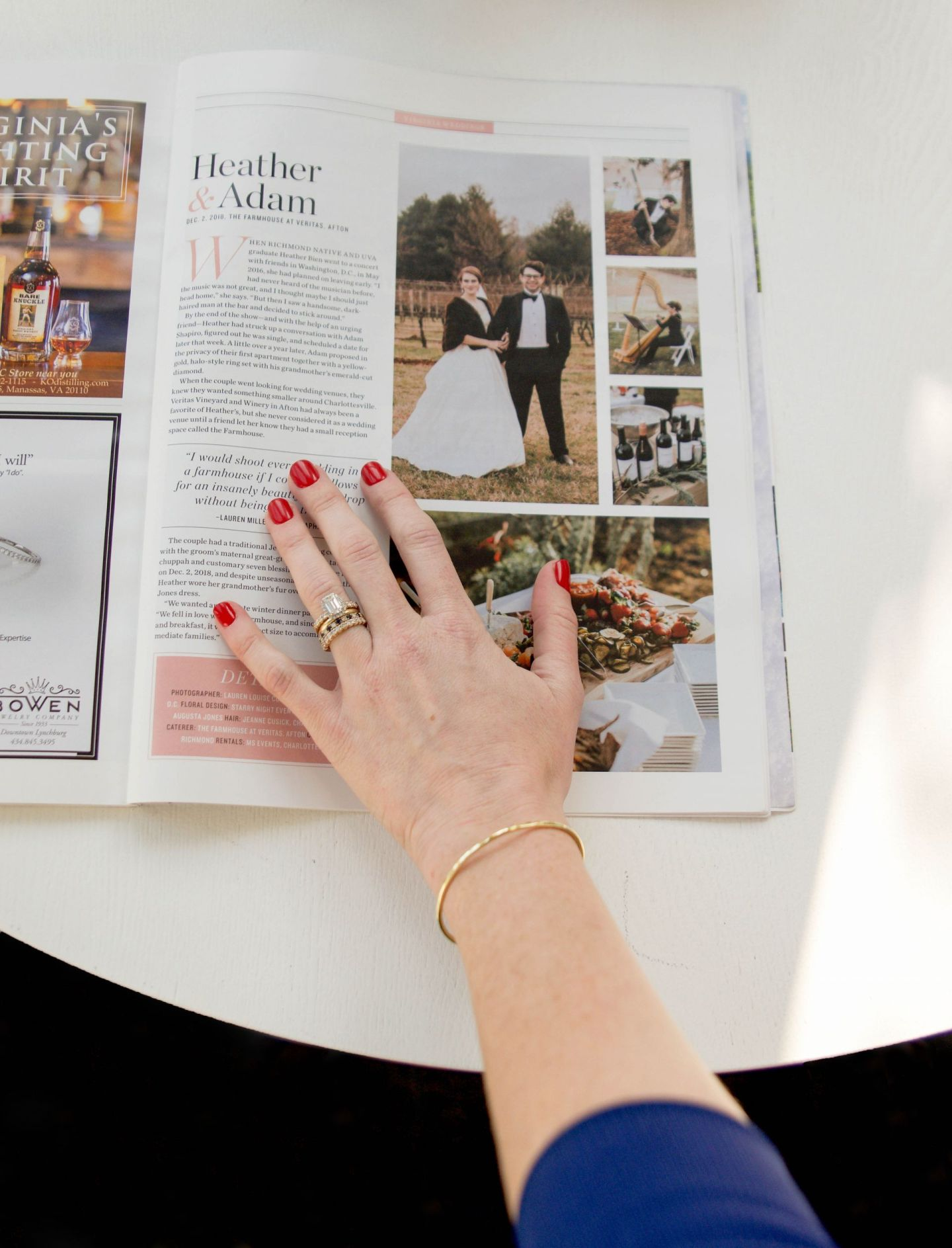 how to pitch a wedding to a magazine - virginia living magazine weddings - farmhouse at veritas wedding