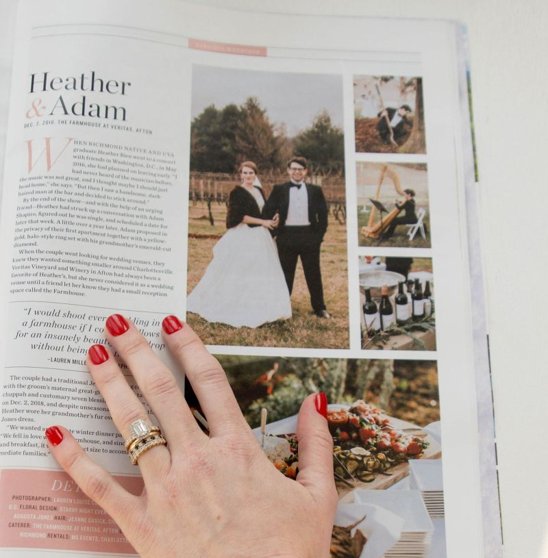 Our Wedding in Virginia Living: How to Pitch a Wedding to a Magazine