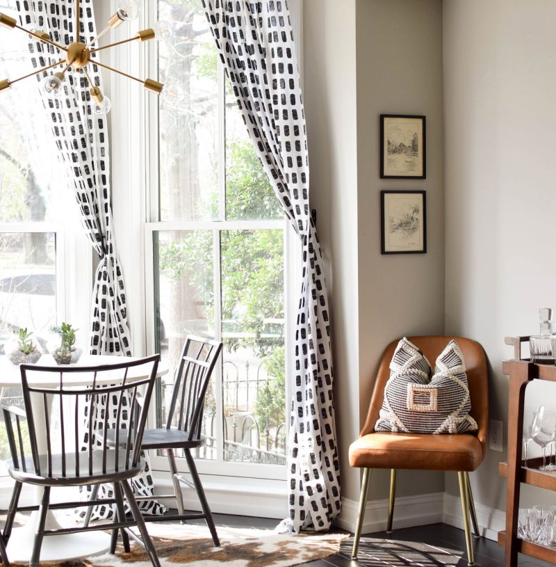 Updating Window Treatments: Bold, Graphic Batik Drapery