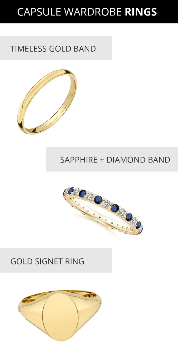 capsule jewelry wardrobe - capsule wardrobe rings