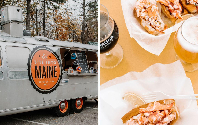 fall weekend in portland - bite into maine food truck allagash - foundation brewing portland