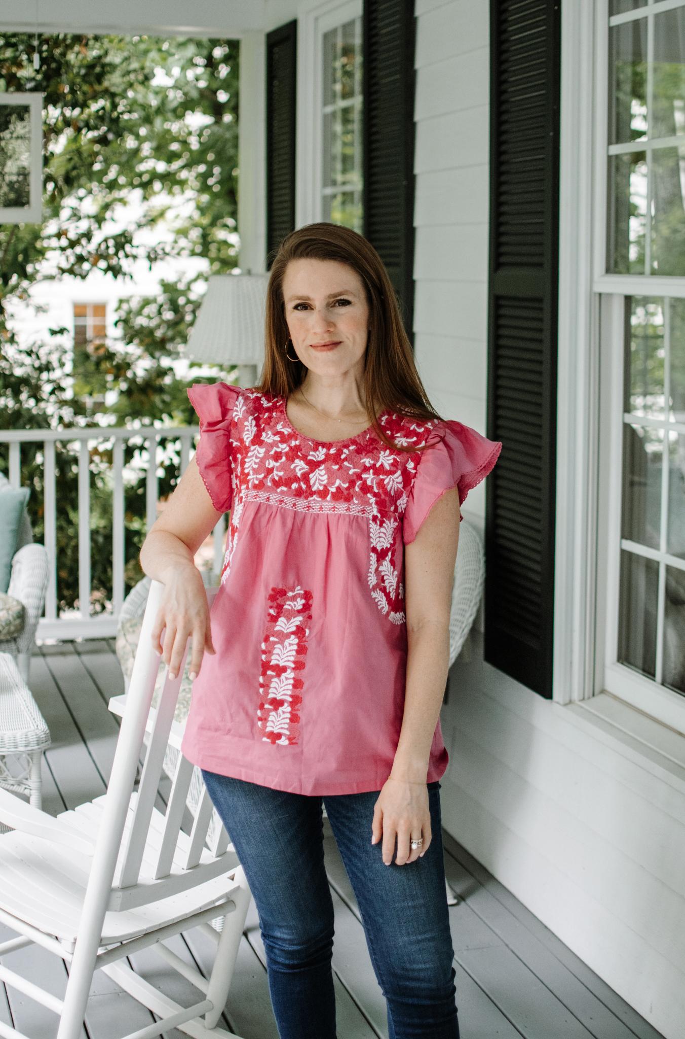 j marie designs review - j marie designs cam blouse - cheap mexican blouses - mi golondrina dupe