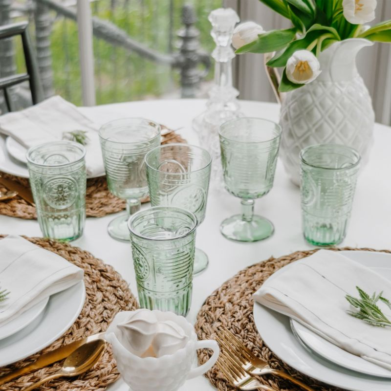 The Romantic Green Glassware I'm Using All Spring and Summer