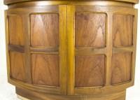 B480A Mid Century Modern Teak Open Corner, Curio Cabinet ...