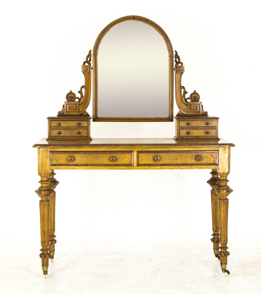Vintage Dressing Table  Antique Vanity  Victorian Duchess Dresser  B721