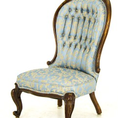 Victorian Occasional Chair Pink Rocking Cushions Antique Arm Ladies Scotland