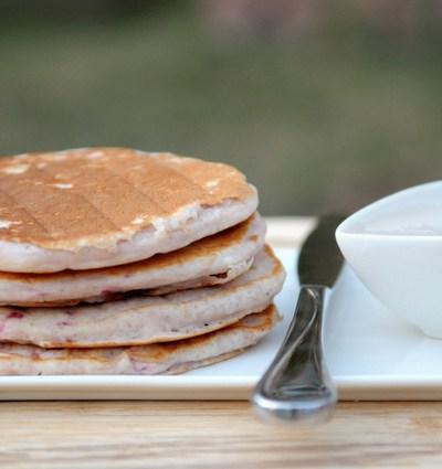 Strawberries 'N' Cream Pancakes