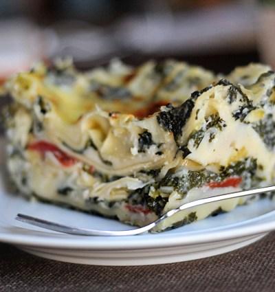 Creamy Kale and Leek Lasagna