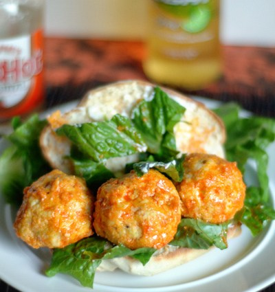 Buffalo Chicken Meatball Subs