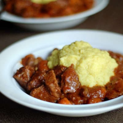 Blog Love:  Garlic Beef Stew and Savory Cauliflower Mash