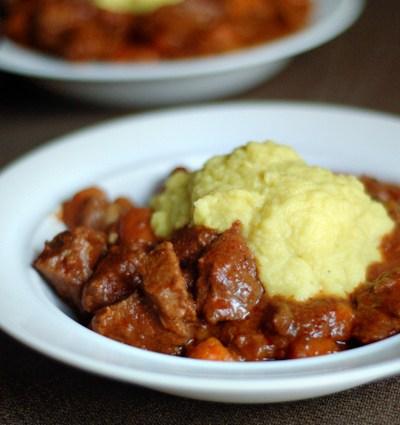 Blog Love:  Garlic Beef Stew and Savory Cauliflower Mash