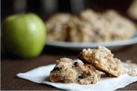 Vegan Apple Cranberry Power Cookies