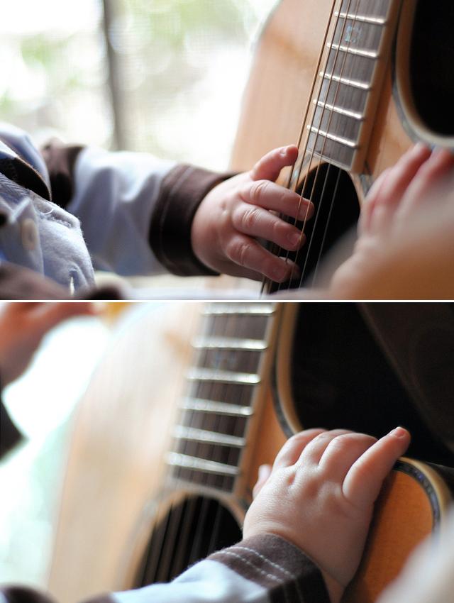 Baby + Guitar