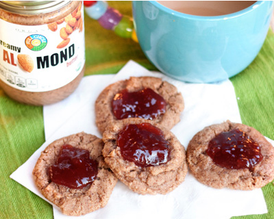 Gluten-free strawberry jam cookies
