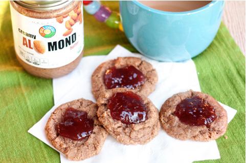 Gluten-free strawberry jam cookies