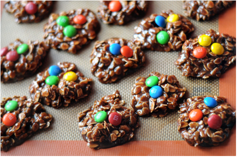 No-bake Nutella M&M cookies