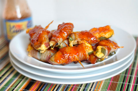 Sweet & sour bacon wrapped jalapenos