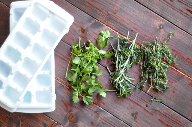 How to store herbs when you have too many! Use this tip at harvest time in the summer or any time you buy fresh herbs for a recipe and have extra you don't want to waste. From HeathersDish.com