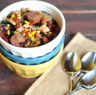 4-Bean Smokey Tex-Mex Soup, Make-and-Freeze Breakfast Burritos, and Healthy Cheesy Chicken