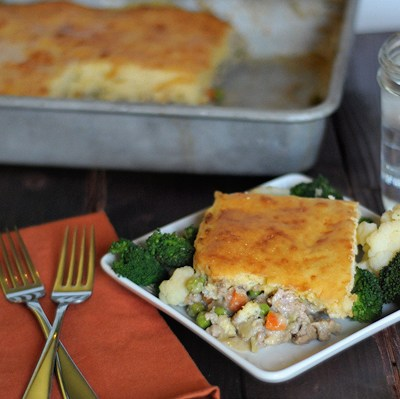Turkey Pot Pie and Almond Butter