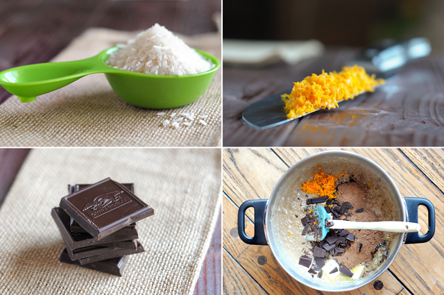 Orange Mocha Chocolate Rice Pudding || Heather's Dish
