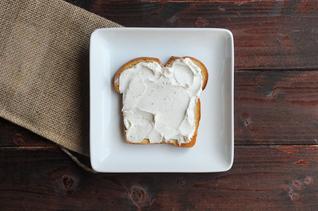Broiled Tomato and Cream Cheese Sandwich