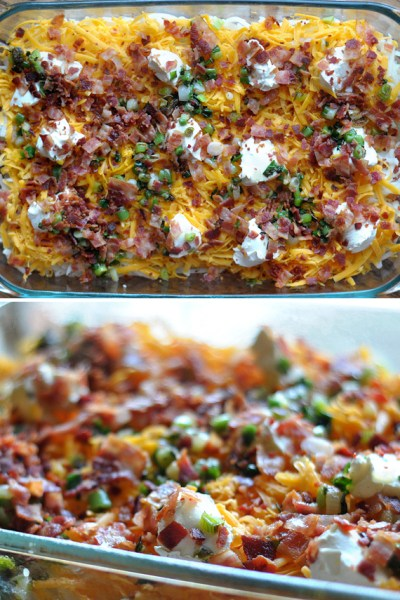 Cheesy Bacon Potato Casserole