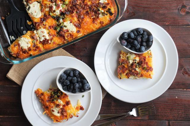 Cheesy Bacon Potato Casserole || Heather's Dish