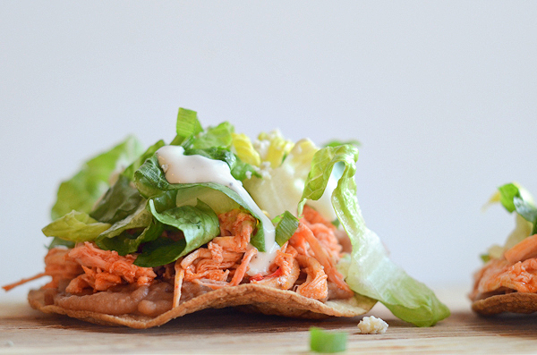 buffalo-chicken-tostadas
