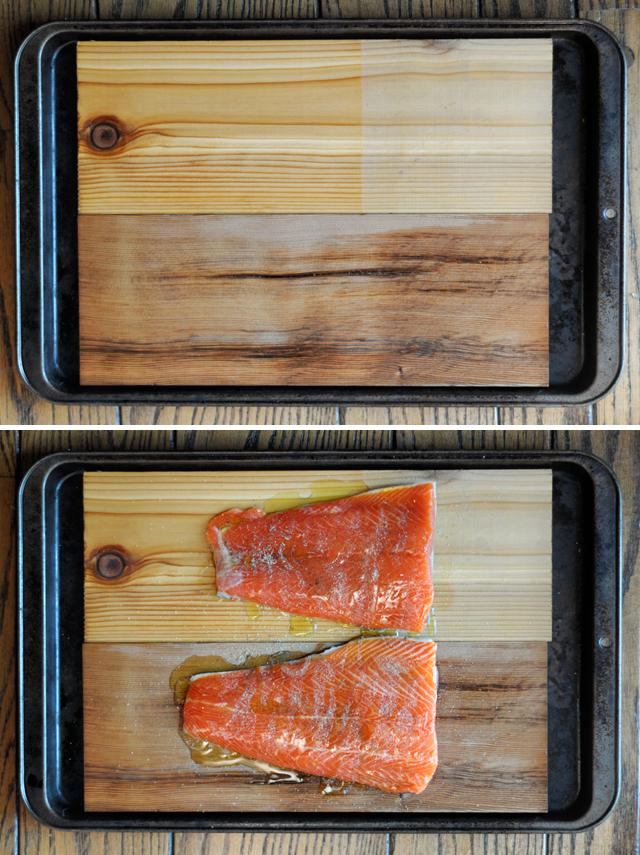 Oven-Roasted Honey Garlic Cedar Plank Salmon || HeathersDish.com