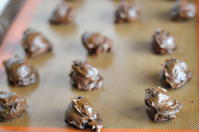 Fudgy Double Chocolate Avocado Cookies (with a surprise!) || HeathersDish.com #cookies #avocado #healthybaking #chocolate