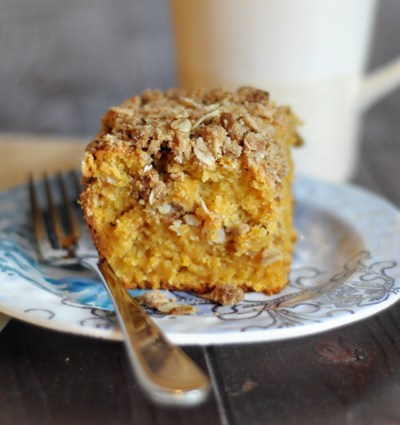 Sweet Potato Coffee Cake with Gingersnap Streusel || HeathersDish.com