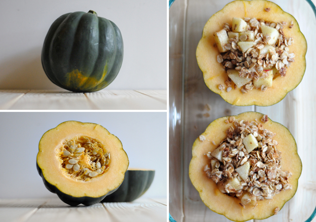 Chunky Applesauce Oatmeal Baked Acorn Squash    HeathersDish.com A simple and delicious anytime dish!