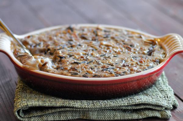 bacon-mushroom-wild-rice-casserole