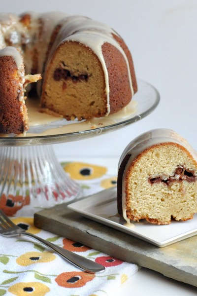 Apple Cinnamon Tunnel Cake with Honey Bourbon Glaze