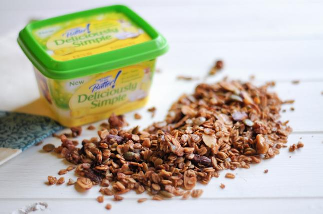 Maple-Sweetened Nutty Granola || HeathersDish.com