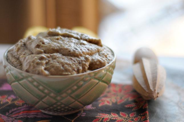 Roasted Garlic Baba Ganouj    HeathersDish.com #healthyeating
