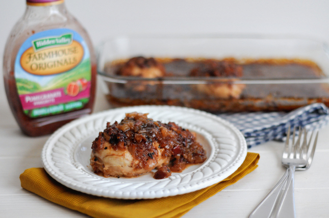 Pineapple Pomegranate Chicken Breasts || HeathersDish.com