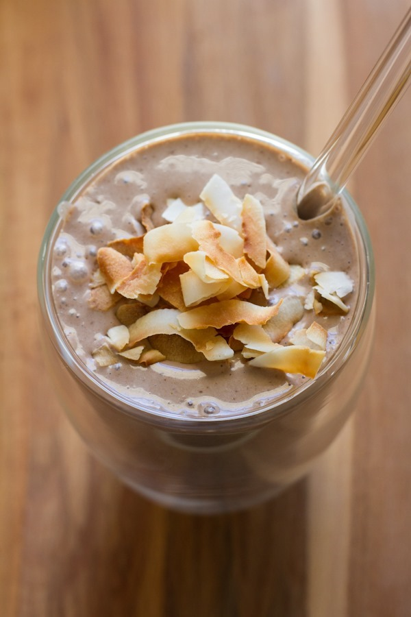 Almond Joy Smoothie from Edible Perspective