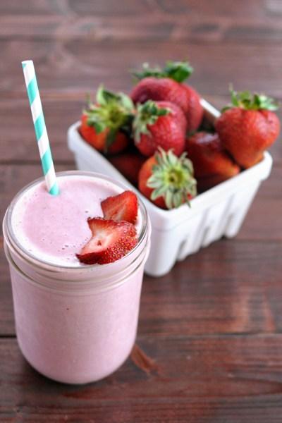 Strawberry Cheesecake Protein Smoothie