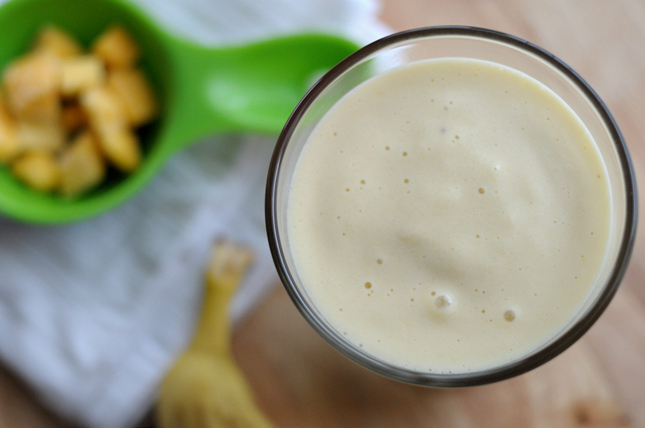 Tropical Protein Smoothie    HeathersDish.com #blended