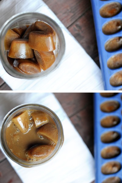 The Easiest Creamy Iced Coffee Ice Cubes || HeathersDish.com #ad #IDelight